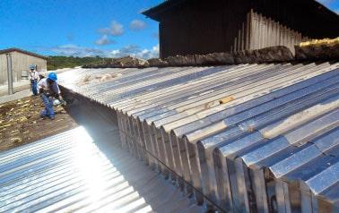 recuperação de cobertura de telhados