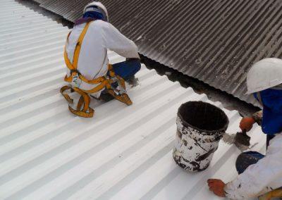 preparo impermeabilização telhado metálico