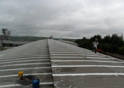 antes da obra de impermeabilização de telhado
